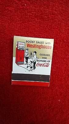 Coca-Cola matchbook-Westinghouse Coolers-c.1960-N Mint - Mint HTF!