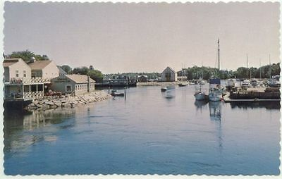 Kennebunkport ME River View Postcard - Maine
