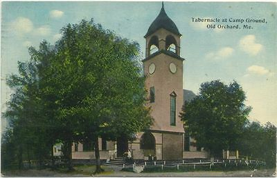 Old Orchard ME Tabernacle at Camp Ground c1912 Postcard - Maine