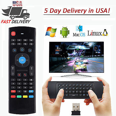 2.4G Wireless Qwerty Keyboard Air Mouse Remote for Smart XBMC Android TV Box PC