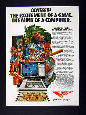 1981 Odyssey2 video game computer system vintage print Ad