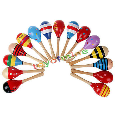 Baby child Kids Sound Music Gift Toddler Rattle Musical Wooden Intelligent Toys