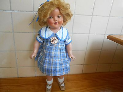 """Early Shirley Temple 18"""" In Bright Eyes Dress **REDUCED**"""
