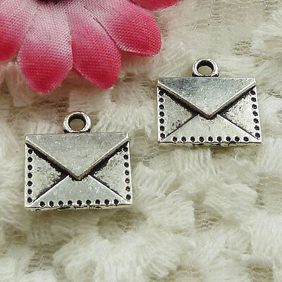 Free Ship 180 pieces Antique silver envelope charms 15x14mm #1684