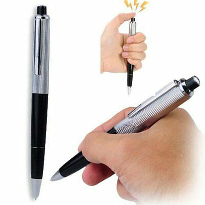 Fancy Electric Shock Pen Toy Gag Funny Ballpoint Working Gift Prank Joke Shocker