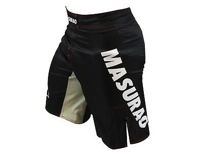 Mens Shorts Black MMA BJJ Crossfit Yoga Strength Training - Masurao Active Short