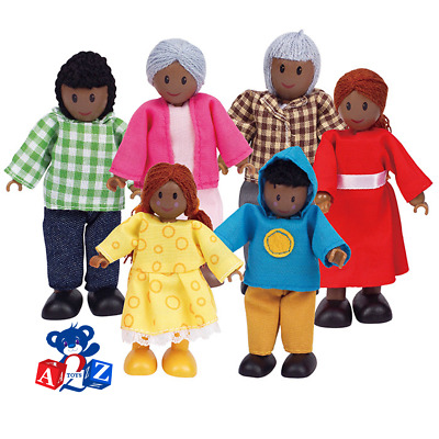 Hape African Family Dolls For Doll House