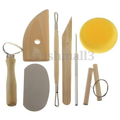8Pcs Polymer Clay Sculpting Tools Pottery Art Project Modelling Carving DIY Set