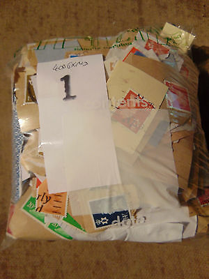 Kiloware (1) approx. 400grms of mainly GB used stamps on paper unchecked