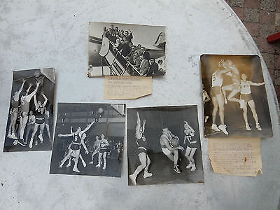 French Basketball Group Of Historic Photographs As A Lot