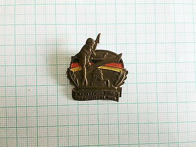 East Germany DDR 1. Gymnastics Competition Leipzig 1954 pin badge