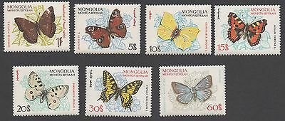 Mongolia stamps. 1963 Butterflies. MLH