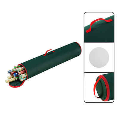 Elf Stor Wrapping Paper Storage Bag with Handles Dark Green
