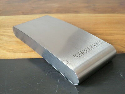 Lindberg Brushed Stainless Steel Case~High Quality Danish Design~Brand New