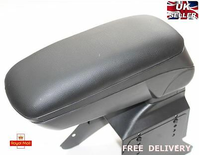 Black Leather Padded Armrest Center Fit For Vauxhall Opel Astra H 2005 New