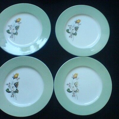 Grindley SATIN-WHITE Ironstone 9 inch Plate x 4