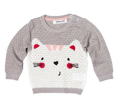 Baby Girls Knitted Jumper By Babaluno - Grey (18-24 Months)
