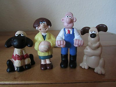 Fab Vintage 1989 Wallace And Gromit Vinyl Figure Lot Wendolene Shaun The Sheep