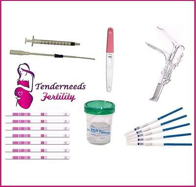 Pro Home Insemination Kit Women/Human IUI & ICI with HCG & LH Tests