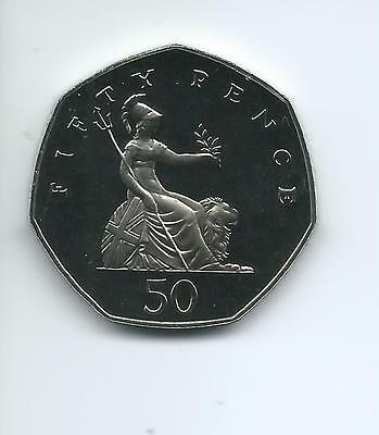 1982  Royal Mint Proof 50p coin taken from a Royal Mint Proof Set.