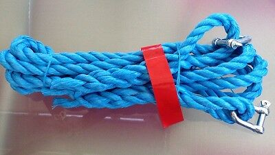 Heavy Duty 3.5 Tonne 4 Metre Car Tow Rope Blue With Heavy Duty Connectors.