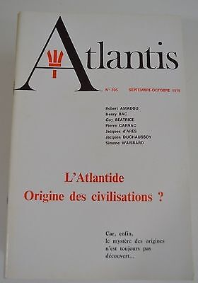 Atlantis Revue Bimestriel N°305 Sept Octobre 1980 Archeo Science  Symbolisme Be