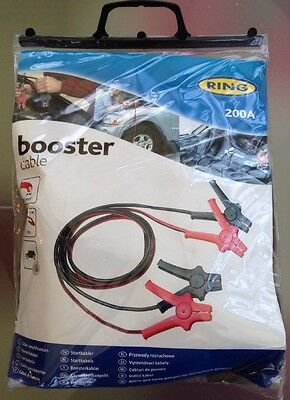 NEW Ring Automotive Car Battery Booster Cables Jump Start Leads 200A GIFT IDEA!