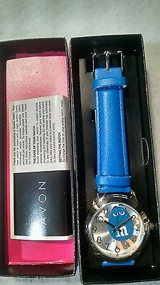 Blue M & M Avon Watch with Blue Band