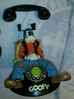 Vintage Telemania Disney Talking Animated Goofy Telephone SEE DESCRIPTION! AS-IS