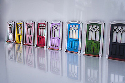 Doll House Front Door, Miniature DIY KIT Internal Wooden Door, Imaginative play