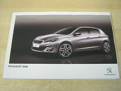 Peugeot 308 Owners Manual Handbook 2012-2016  Includes Audio