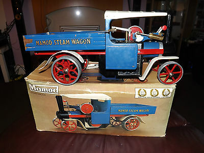 Vintage Mamod Sw1 S.w.1 Live Steam Wagon Engine Blue Boxed