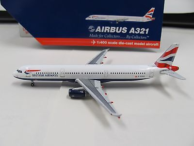 GeminiJets II 1:400 scale diecast model BA Airbus A321 commercial airliner
