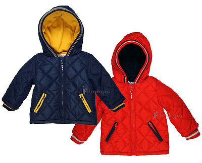 Babaluno Baby Boys Quilted Jacket Coat Navy or Red (18-24 Months)