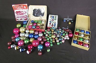 Lot 188 Glass Ball Christmas Ornaments Feather Tree Ornaments
