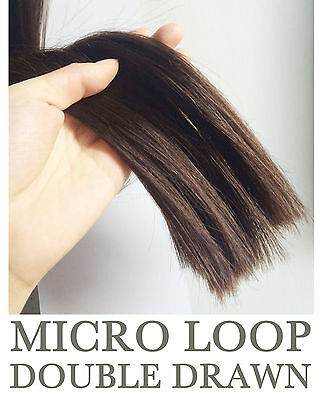"""Double Drawn 1G 16"""" 18"""" 20"""" 22"""" 24"""" Micro Ring  Easy Loop Human Hair Extensions"""