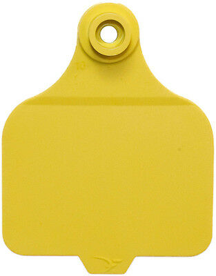 25 ct Yellow DuFlex Blank Large Cattle ID Ear Tags