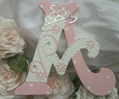 Pretty personalised girls Princess wooden letter/name