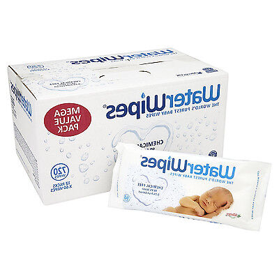 WaterWipes Sensitive Baby Wipes, Natural Chemical-Free, 12 X 60 ( 720 Wipes) New