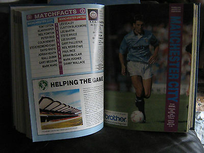 Bound Volume - Manchester City 1990-91 Complete Set
