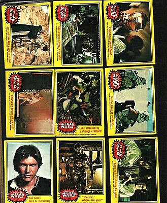 1977 Topps Star Wars Cards Series 3 Yellow..... Good++ To Very Good  Condition