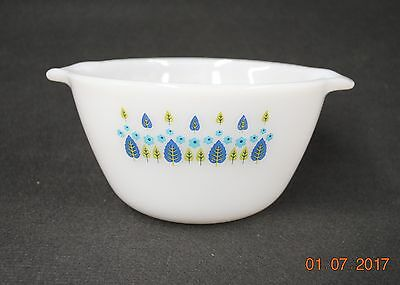 "Vintage 7"" Ovenware Mixing Bowl Milk Glass W/ Pouring Handles"