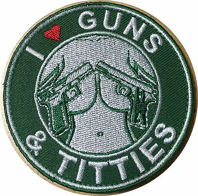 GREEN GUNS AND TITTIES STARBUCKS 3D ARMY ISAF US CAFE PATCH MORALE Heart 214