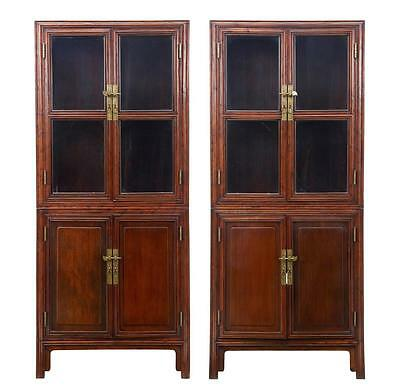 Pair Of 19Th Century Chinese Hardwood Cabinets