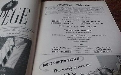 The skin of our teeth opening night playbill Helen Hayes Mary Martin 1955