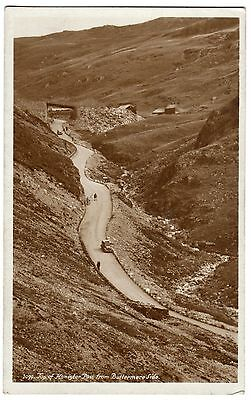 Postcard Old Cars Top of Honister Pass Buttermere Side Cumbria Unused RP