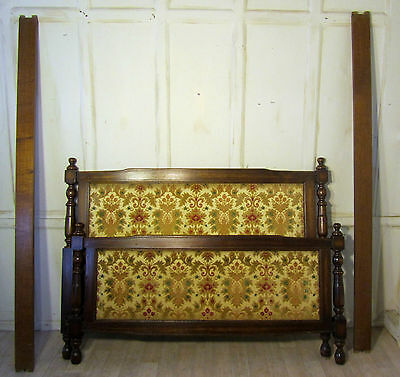 French Country Oak Upholstered King Size Double Bed