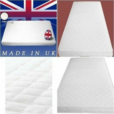 Baby Toddler Cot Bed Waterproof and Quilted Breathable Foam Mattress All Size