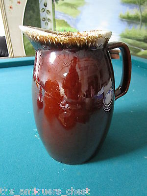 """Hull pottery pitcher oven proof brown dip 9 1/2"""" tall [a*4-hull]"""