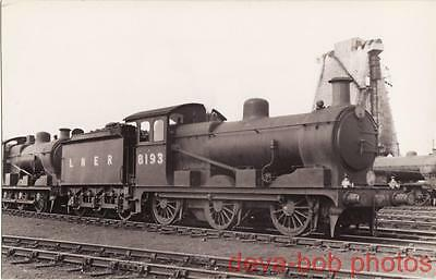 Railway Photo LNER J17 8193 March Shed 1934 GER Hill 0-6-0 Loco Great Eastern